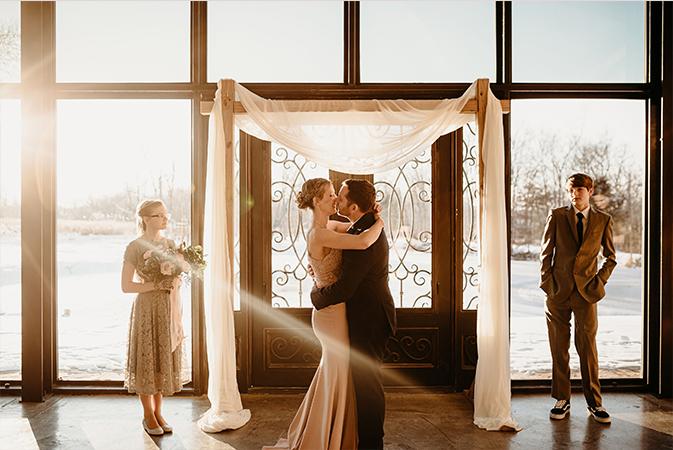 A photo of Emily & Kevin - Burdoc Farms Wedding