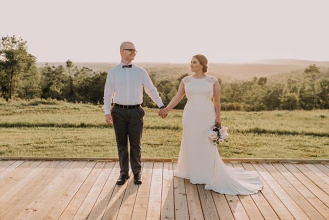 A photo of Hannah & Tristan - Burdoc Farms Wedding